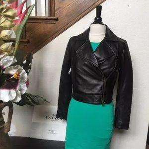 Coach leather jacket black 85331